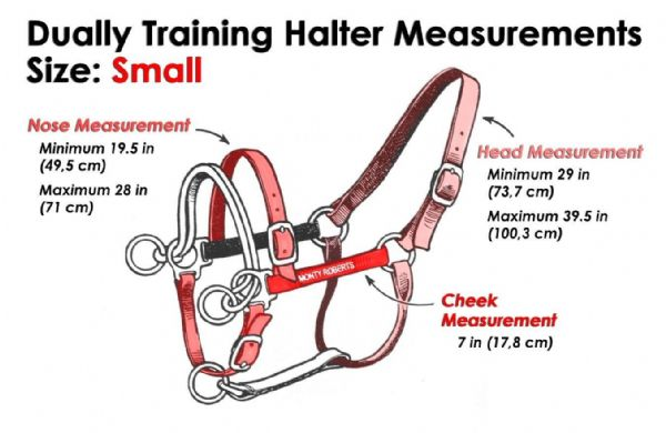 Monty Roberts Dually Schooling Halter Small Red Nylon Headcollar with how to use it DVD